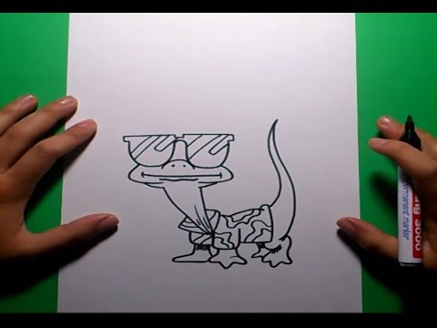 Como dibujar una lagartija paso a paso how to draw a - Como iluminar un escaparate ...