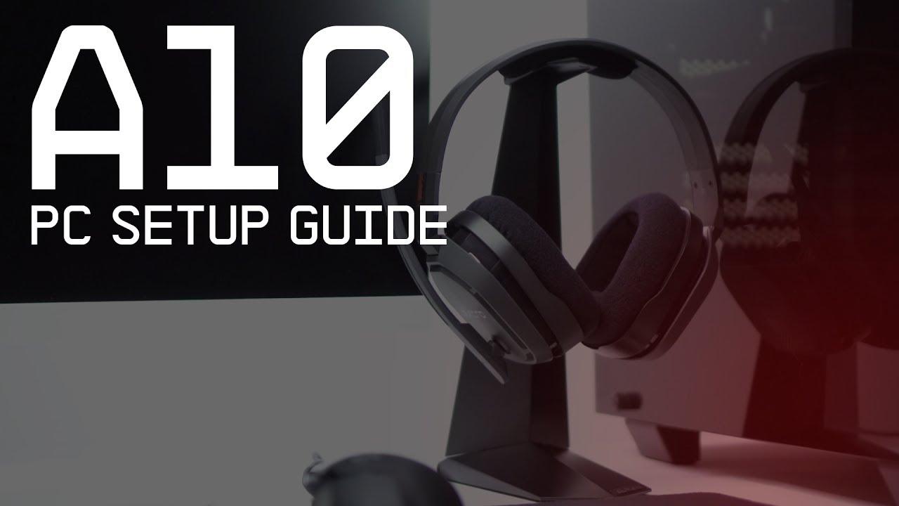 a10 gaming headset pc mac setup guide astro gaming [ 1280 x 720 Pixel ]