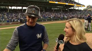 Brewers manager Craig Counsell has a new hat