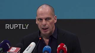 Greece: Varoufakis announces new 'MeRA 25' political party in Athens