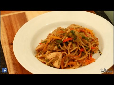 Chicken Chow Mein (Jamaican Cooking) | Recipes By Chef Ricardo