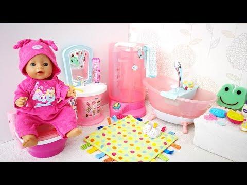 РУМ ТУР по ВАННОЙ КОМНАТЕ Кукла #Беби Бон Мультик Игрушки Для девочек Для детей