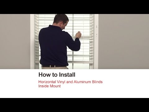 Bali Blinds | How to Install Horizontal Vinyl and Aluminum Blinds - Inside Mount