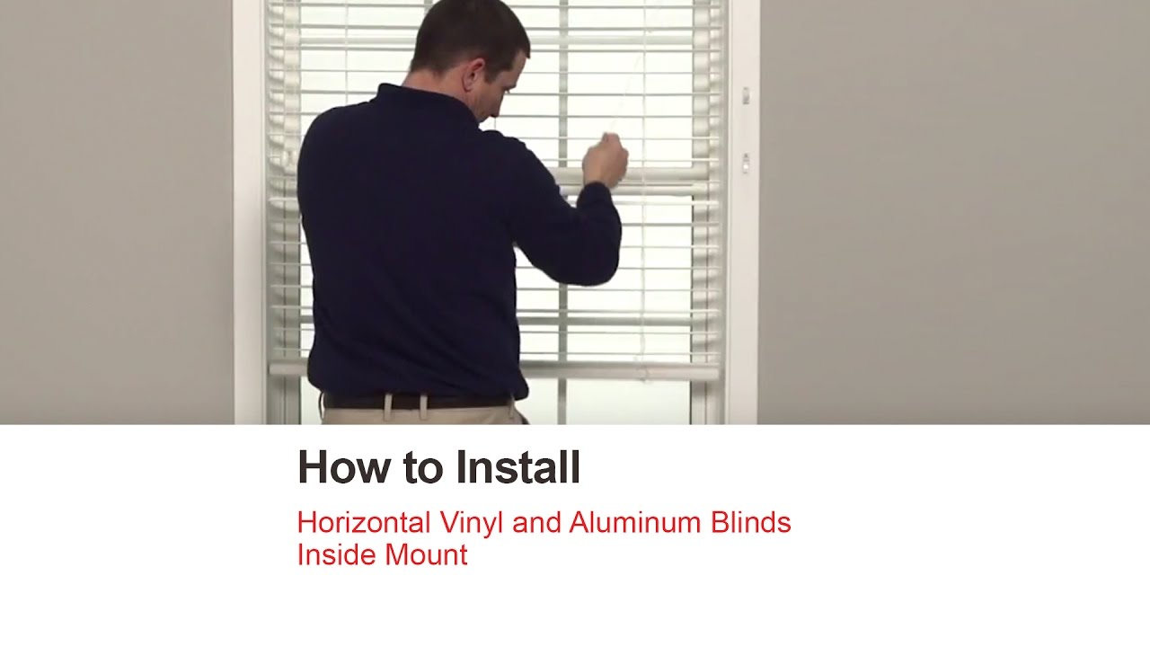 Bali Blinds How To Install Horizontal Vinyl And Aluminum Blinds Inside Mount