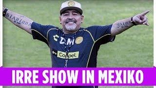 Maradona-Show in Mexiko: Maradona tanzt und feiert beim 1. Training
