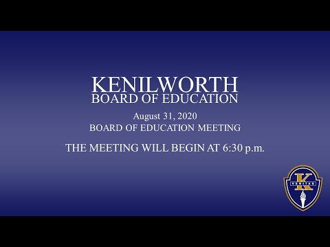 08-31-2020 - Kenilworth BOE Special Meeting