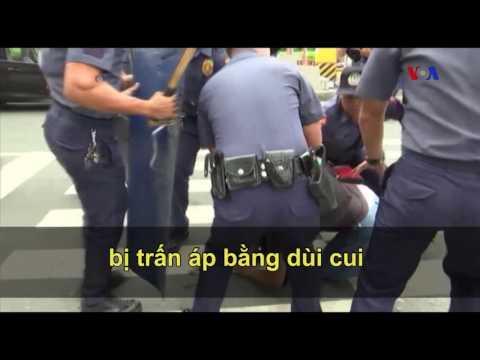 Philippines: Cảnh sát lao xe vào đám đông biểu tình chống Mỹ