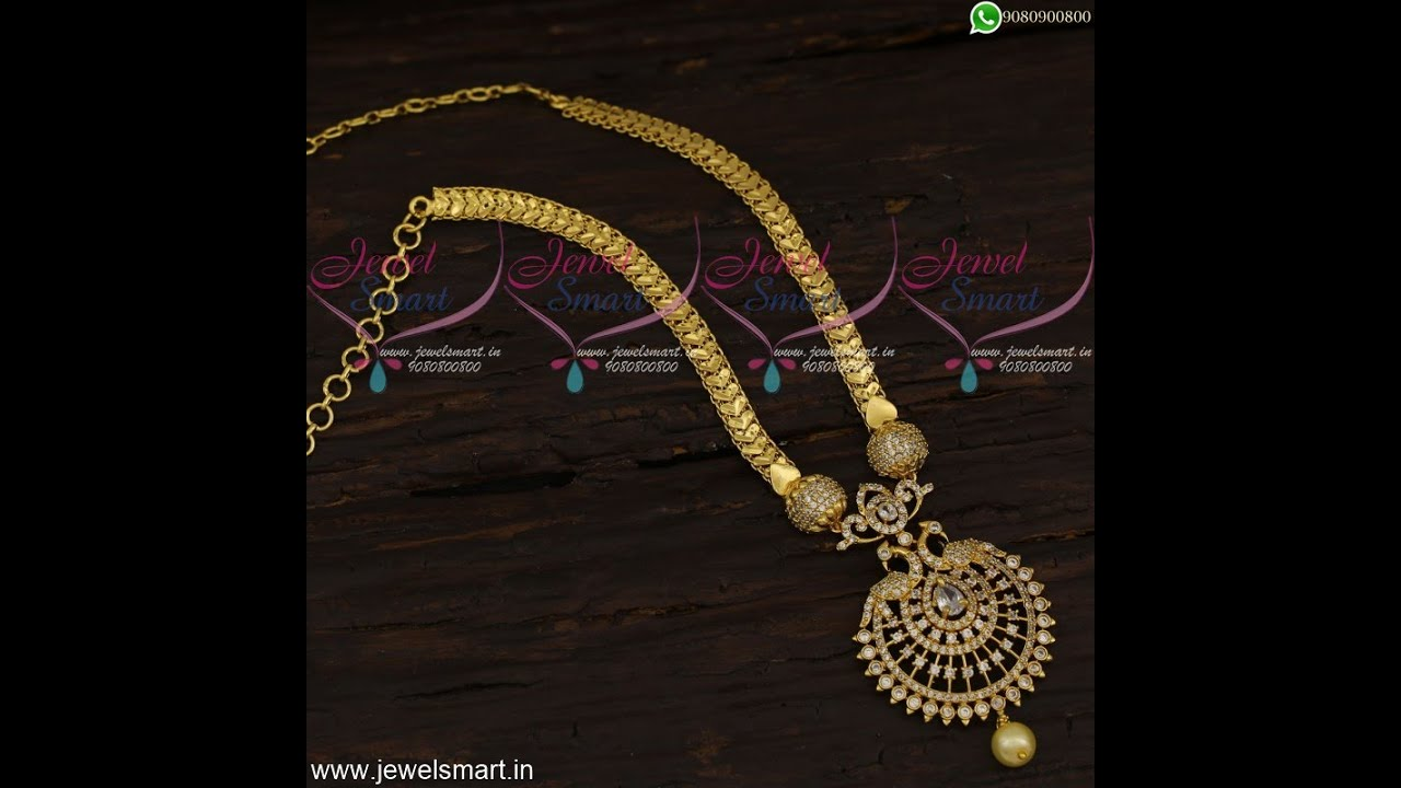 Designer Chains South Indian Fashion Jewellery Collections Shop Online Cs21516