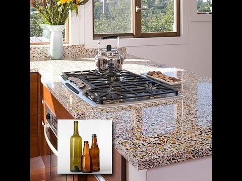 Creative Way to Reuse and Recycle Glass For Countertops Ideas