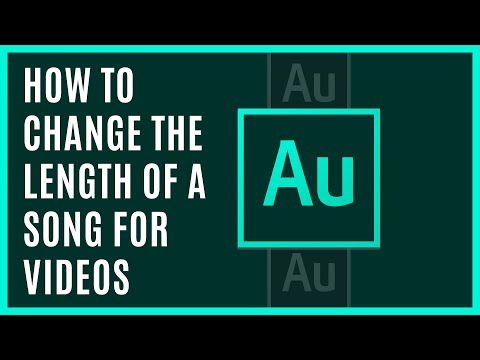 How to change the length of a song for videos - Adobe Audition and iMovie