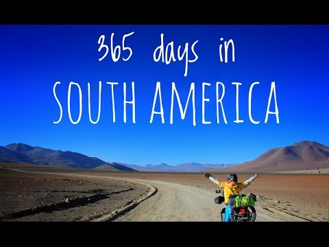One year motorcycle in South America in 3 minutes