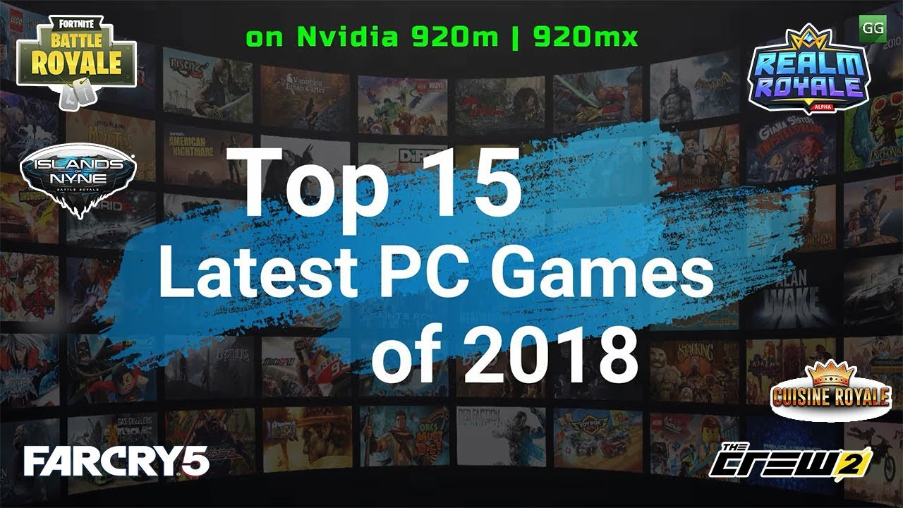 Top 15 Latest Games of 2018 Tested on Nvidia 920m | 920mx with Benchmarks