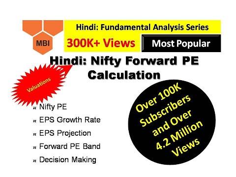 Hindi: Fundamental Analysis (Nifty Forward PE Calculation)
