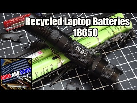 How to recycle lithium Ion battery cells from laptop batteries 18650 3.7 volts