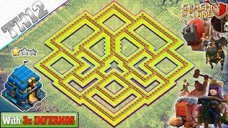 NEW UPDATE TH12 Base with 3 INFERNO TOWERS 2018 - Clash of Clans