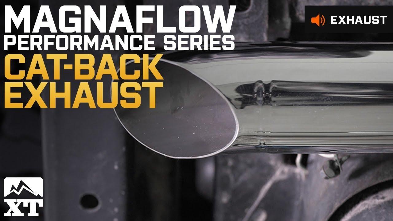 Magnaflow Cat Back Exhaust >> Jeep Wrangler (2007-2017 JK) Magnaflow Performance Series Cat-Back Exhaust Sound Clip & Install ...