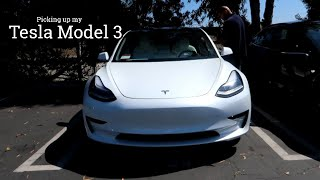 GETTING MY NEW CAR! (Tesla Model 3 Delivery Day)