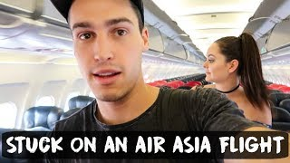 STUCK ON AN AIR ASIA FLIGHT MANILA TO CEBU | Philippines - VLOG #63
