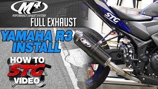 15-17 Yamaha R3 M4 Full Exhaust Install | Sportbiketrackgear.com