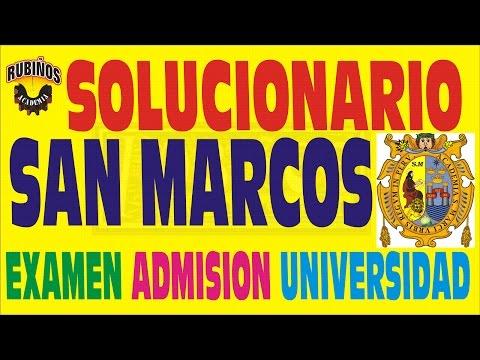 UNIVERSIDAD MAYOR SAN MARCOS - EXAMEN DE ADMISIÓN - SOLUCIONARIO