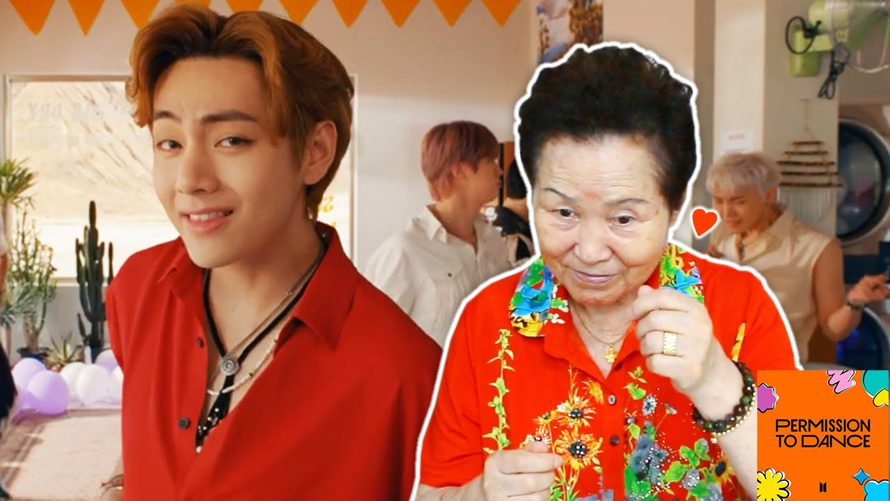 Korean Grandma Reacts to 'Permission To Dance' by BTS