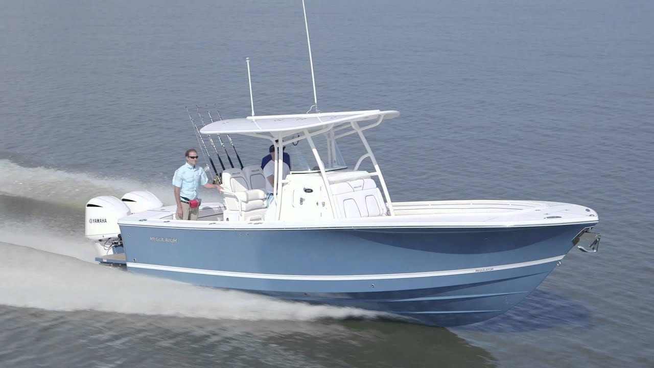 regulator center console fishing boat for sale by kusler