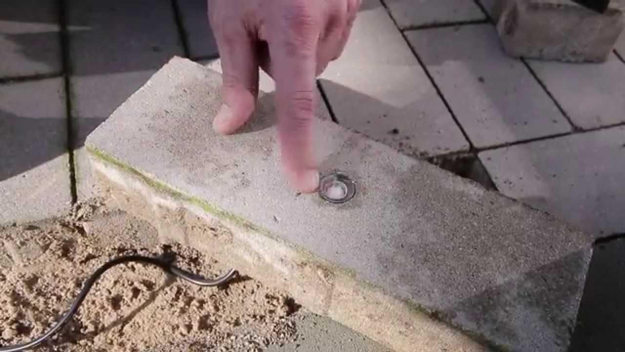 Tuinverlichting In Tegel : In lite tuinverlichting aanleggen een mm grondspot aansluiten
