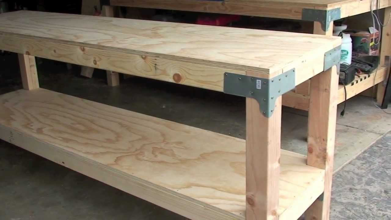 Work Bench  80 00   24  x 96  36  tall  J  Black   YouTube. Free Plans Building Wood Workbench. Home Design Ideas