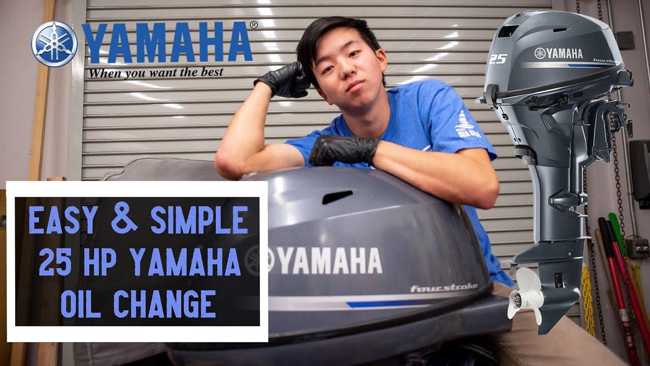 YAMAHA 4-Stroke Outboard Oil Change (25HP) - YouTube