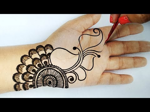 आसान मेहँदी डिज़ाइन - दिवाली स्पेशल गोल टिक्की शेडेड मेहँदी - Latest Diwali Mehndi Design 2019