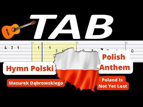 🎸 Hymn Polski (Mazurek Dąbrowskiego, POLISH ANTHEM) - melodia TAB (gitara) 🎸