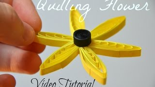 DIY Easy Quilling Comb Flower Tutorial