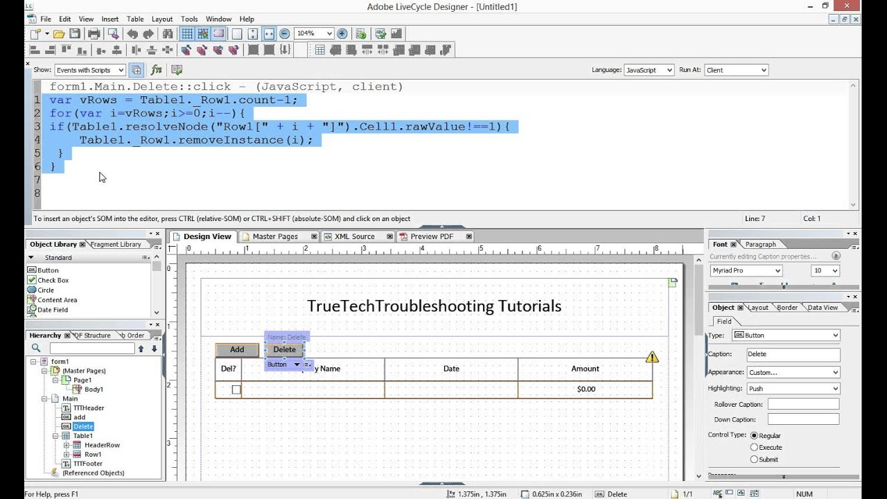 Basic JavaScript Looping in Adobe LiveCycle Designer® - YouTube