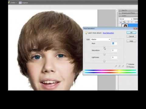 Justin bieber purple hair??