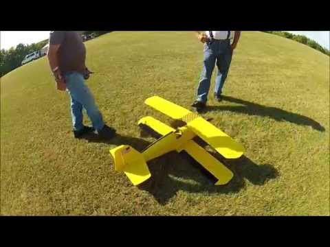 Andrews Aeromaster CRASH On Takeoff RC Airplane Biplane