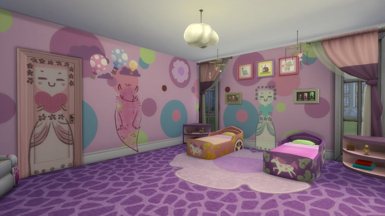 The Sims 4 Speed Build: Twin Toddler Girls Bedroom