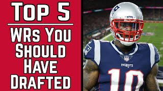 Top 5 Wide Receivers You Should Have Drafted! - 2019 Fantasy Football