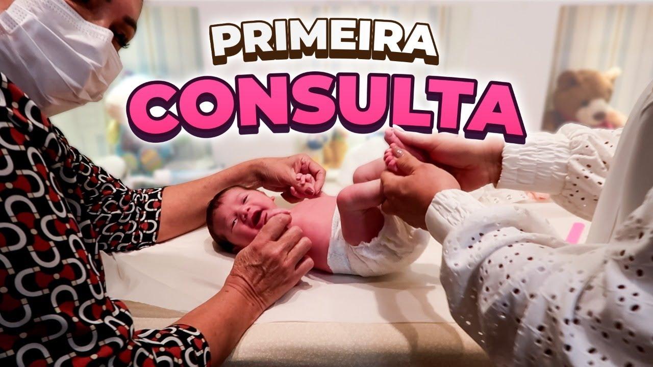 MARIA ALICE FEZ A PRIMEIRA CONSULTA NA PEDIATRA!!