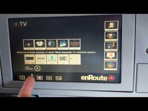 Air Canada In-flight Entertainment System