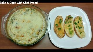 Spinach Corn Au Gratin... A Delicious French recipe with an Indian Touch...