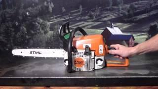 The chainsaw guy shop talk Stihl MS 210 chainsaw 7 18