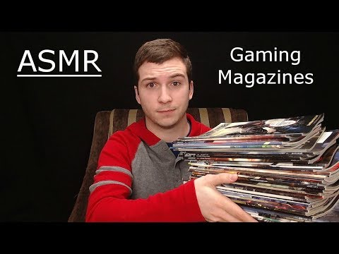 (ASMR) Game Informer Magazine Collection & Video Game Tappin