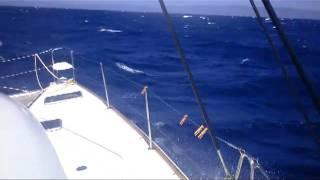 sailing on catamaran Lagoon 38, Miconos - Poros, ATLAS.