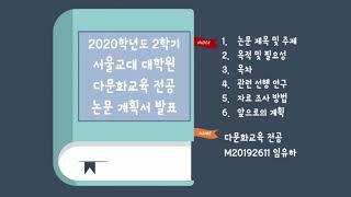 4학기 임유하 M20192611 논문계획서 발표