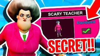 SCARY TEACHER 3D VS PIGGY IN ROBLOX PIGGY RP GAME!! (SECRET SKIN)
