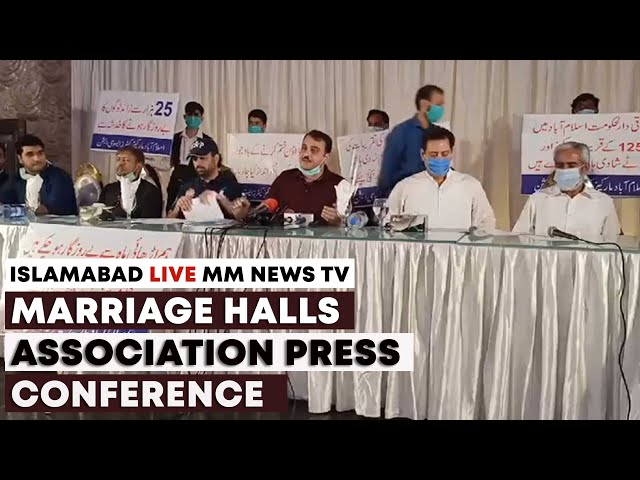 Islamabad Marriage Halls Association Press Conference