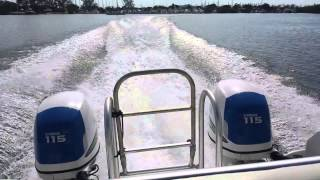 Twin Vee Catamaran 22 running in Kingston Harbour, Jamaica part 2
