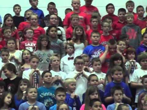 I Love America, 2015 North Mac Intermediate Students at Veteran's Day Program