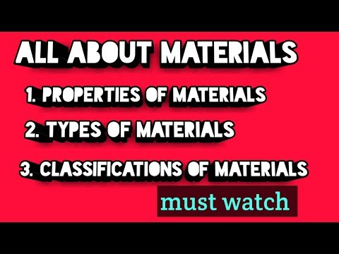 MMS subject - properties of materials | Types of materials | explained in  hindi