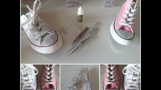 How I Customize My Converse With Crystal Rhinestones